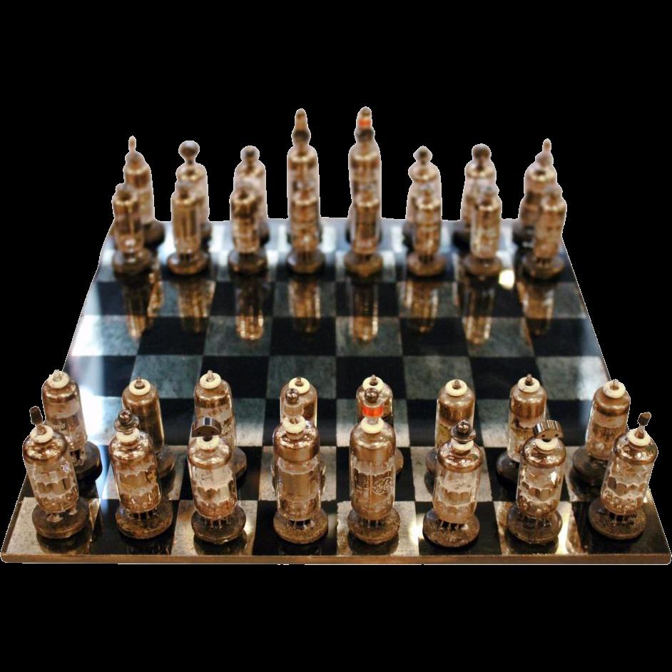 1950s Steam punk chess set