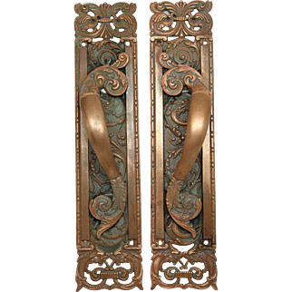 Highly ornate decorative Columbian door pulls