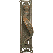 Large bronze ornate door pull