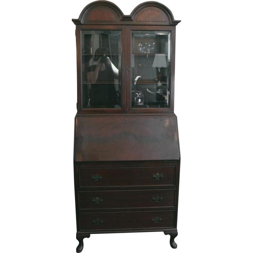 Antique mahogany secretary