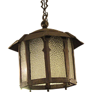 Tudor Gothic style lantern with pebbled glass