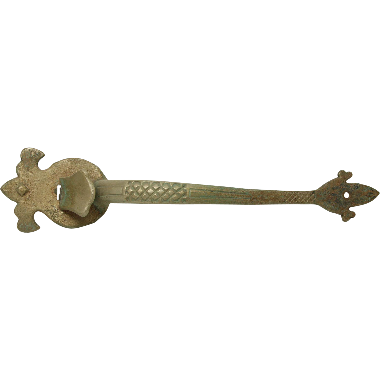 Iron Arts & Crafts door thumb latch handle