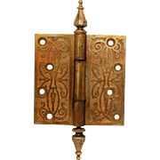 Bronze aesthetic ornate steeple tip hinge