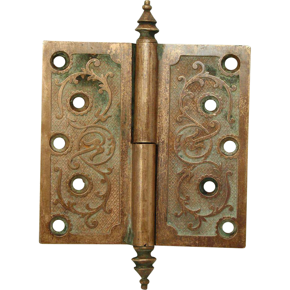 Steeple tip aesthetic ornate bronze hinge