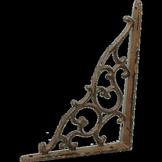 Iron Victorian shelf bracket