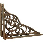 Pair of iron Victorian brackets