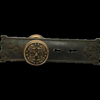 Bronze entry knob set with Mantua plate