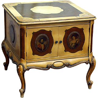 Ornate figural console table