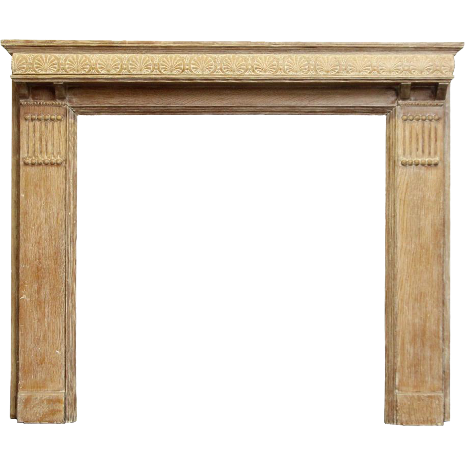 Carved shell wood vintage mantel