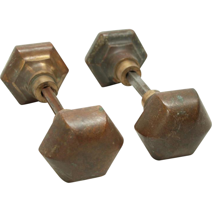 Bronze Arts & Craft knob set