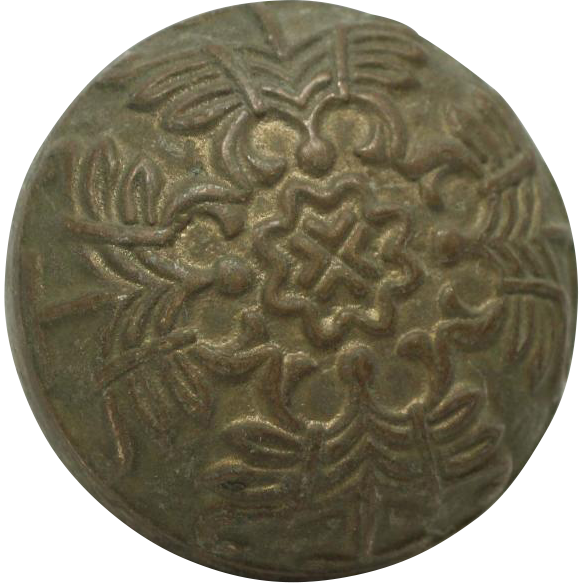 Collectors quality bronze round decorative knob