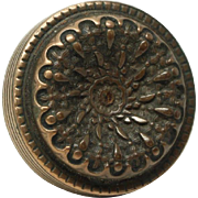 Concave Reading floral bronze decorative knob