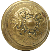 Decorative brass doorknob