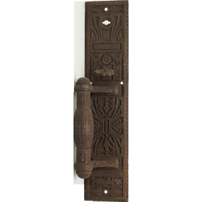 Small decorative iron door pull