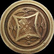 Early 1900s Gothic collectors quality bronze doorknob