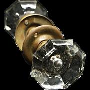 Glass knob set with mercury dot & rosettes