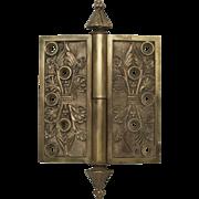 Highly decorative steeple tip bronze hinge