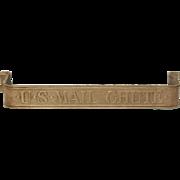 U.S. mail chute brass pull