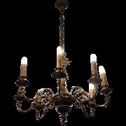 Eight arm bronze chandelier