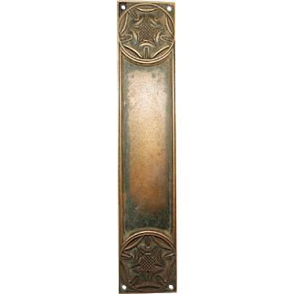 Yale Bronze Floral Push Plate