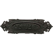Iron Victorian Letters Slot