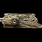 Ornate Polished Brass Baldwin Turn Latch