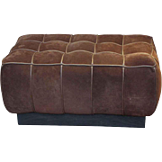 Brown Suede Ottoman