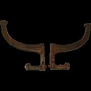 Vintage Mid Century Bronze Hook