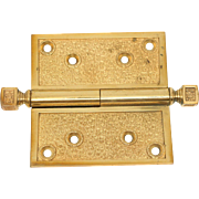 Bronze Gilded Hinge with Square Finials