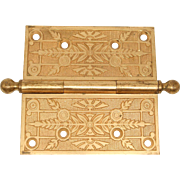 Gilded Bronze Hinge with leaf Motif