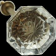 Etched Glass Closet Knob