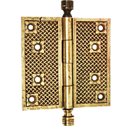 Early Basket Weave Bronze Hinge