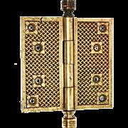 Early Basket Weave Bronze Hinge