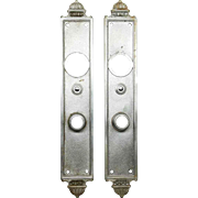 Pair of Art Deco Yale Nickel Over Bronze Back Plates