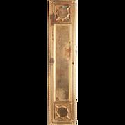 Antique Art Deco Gilded Cast Push Plate