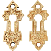 Antique Pair of Eastlake Bronze Keyhole Covers