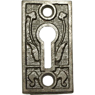 Antique Victorian Keyhole Escutcheon Plate