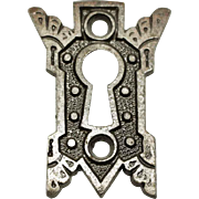 Antique Ornate Iron Key Escutcheon Plate