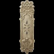 Antique Gothic Bronze Dragon Push Door Plate