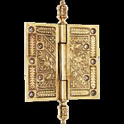Gilt Brass Victorian Hinge