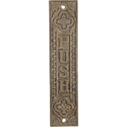 Victorian Bronze Door Push Plate