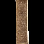 Antique Victorian Polished Bronze Door Push Plate
