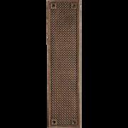 Antique Bronze Weave Patterned Door Push Plate