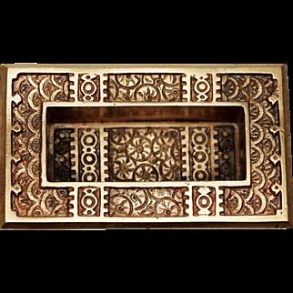 Antique Aesthetic Polished Brass Window Sash Lift