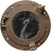 Nautical Hand Cast Solid Brass Porthole Mirror