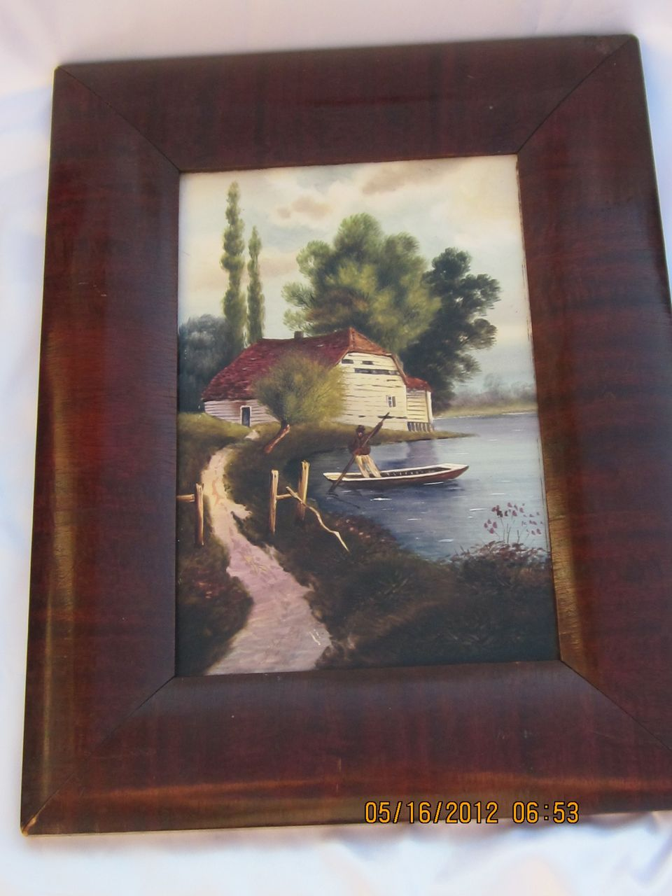 Old Hand Painted European Porcelain Plaque