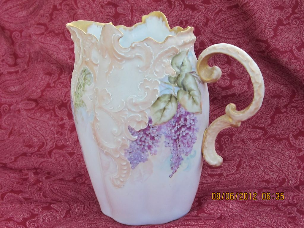 19th Century  Leonard Vienna Austria Hand Painted Pitcher
