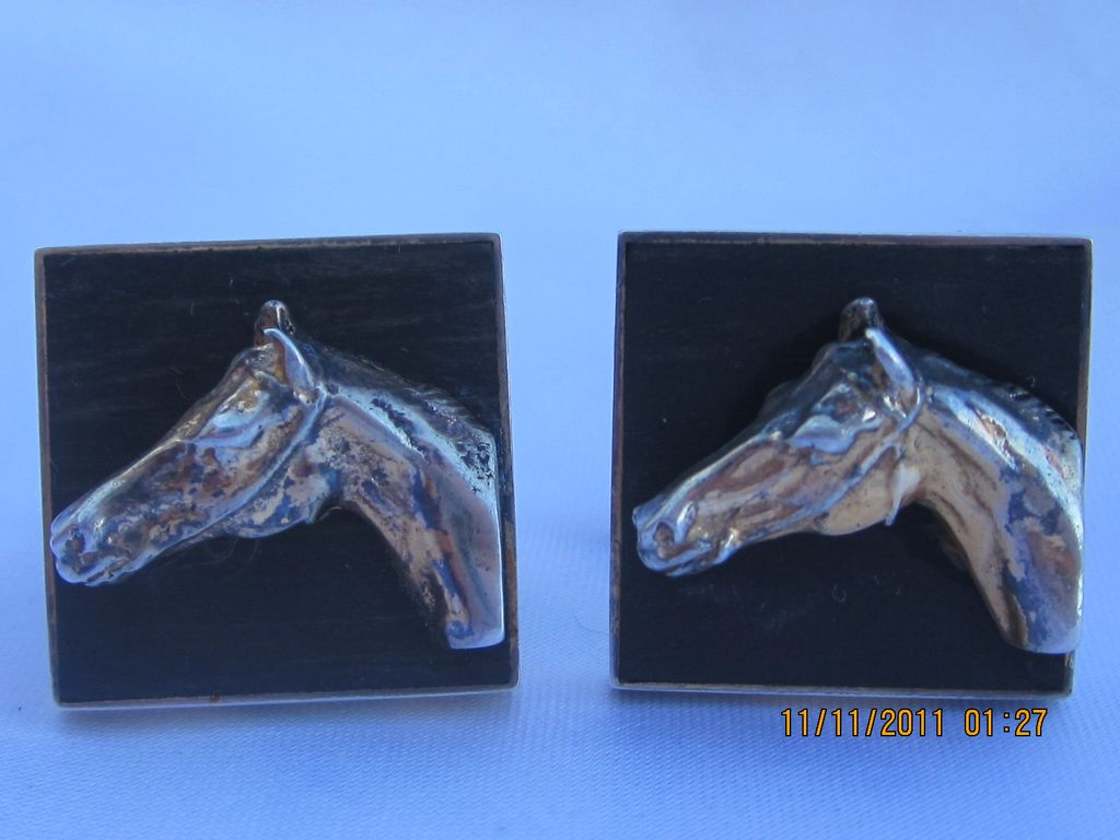 Vintage Fenwick- Sailors Sterling Horse Cufflinks