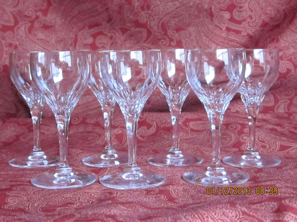 Vintage Crystal  Liquor Cordial Set 7 Pcs