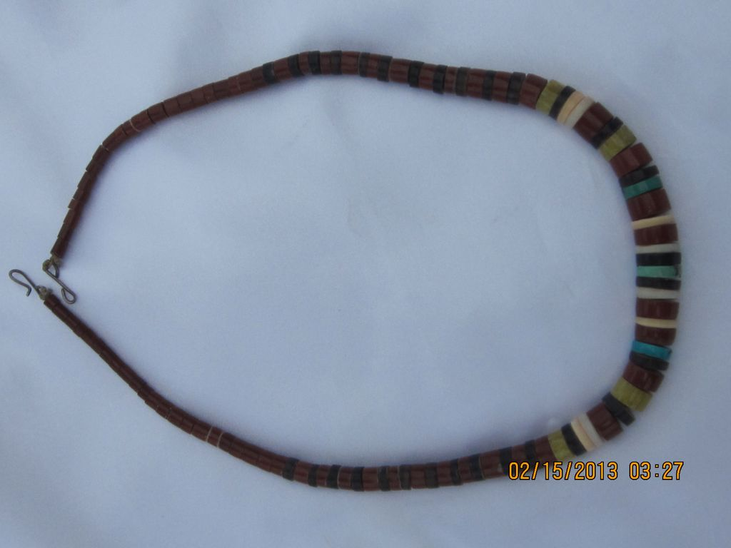 Vintage Heishi Beads Necklace 20""